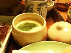 旅館つつ井夕食地穴子茶碗蒸し