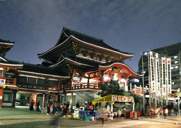 大須観音の夜