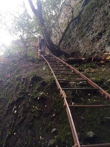 五剣山はしご