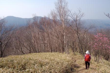 11夕日岳への尾根