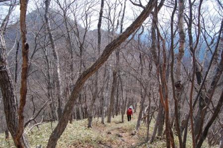 23夕日岳への尾根