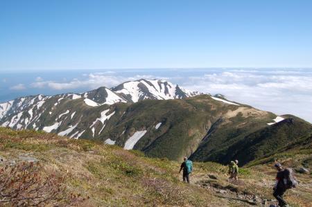 56エブリ差岳への尾根