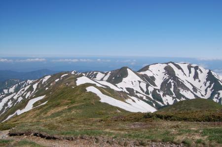 62エブリ差岳への稜線