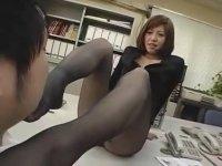 【M男】 黒パンスト美脚女教師:南原香織