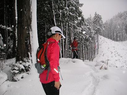 雪の青梅丘陵