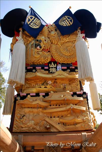 山端太鼓台の飾り幕 八幡神社前 新居浜太鼓祭り2010 川東西部地区 愛媛県新居浜市 2010年10月17日