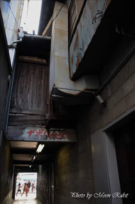 仕出しひょっとこ・スナック寿賀・カラオケ喫茶京付近の通路にて 愛媛県西条市紺屋町 2011年7月23日