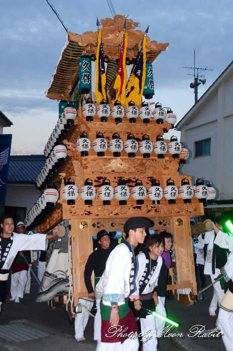 久保屋台(だんじり) 前夜祭 石岡神社祭礼2012