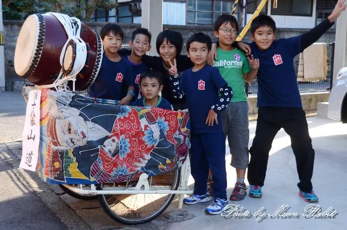 山道屋台(だんじり) お子さん 石岡神社祭礼2012