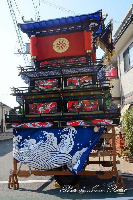 古屋敷屋台(だんじり) 自由運行 西条祭り2012