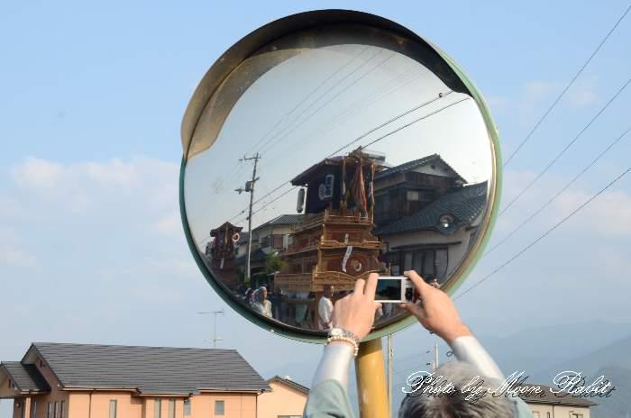 栄町中組屋台(だんじり) 室川堤防 統一運行 西条祭り2012