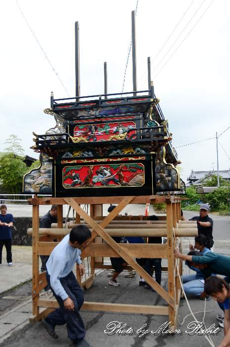 奥の内集会所・奥之内屋台仮設収納庫(テント) 西条祭り2013 愛媛県西条市