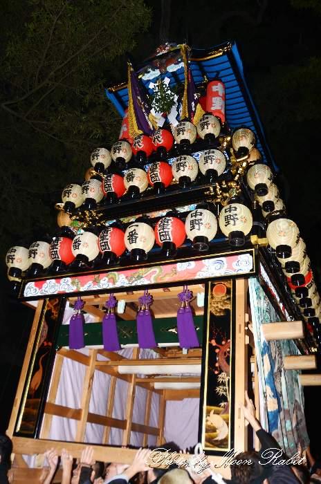 中野屋台(だんじり) 宮出し 伊曽乃神社祭礼 西条祭り2013