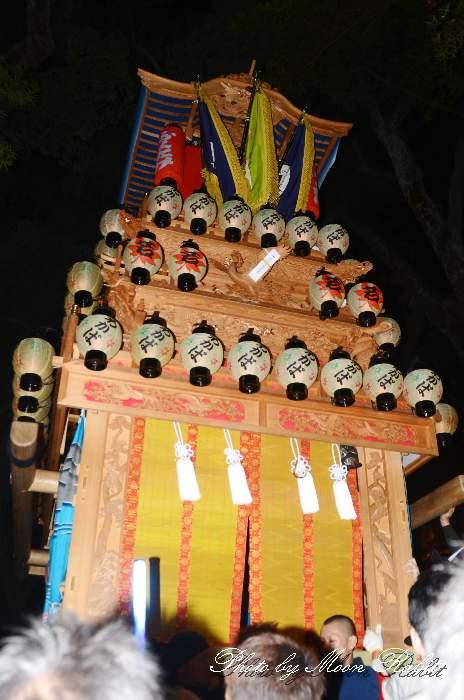 若葉町屋台(だんじり) 宮出し 伊曽乃神社祭礼 西条祭り2013