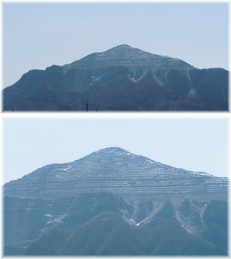 武甲山はシマシマ