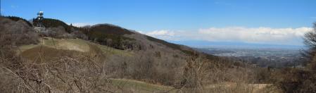 二本木線頂上付近の眺望