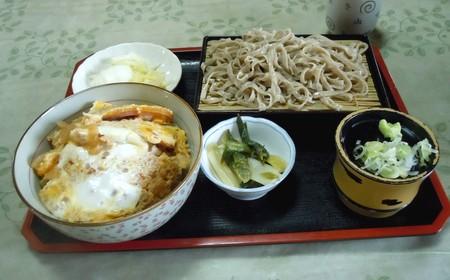 ハムかつ丼セット(そば付き)@別品屋