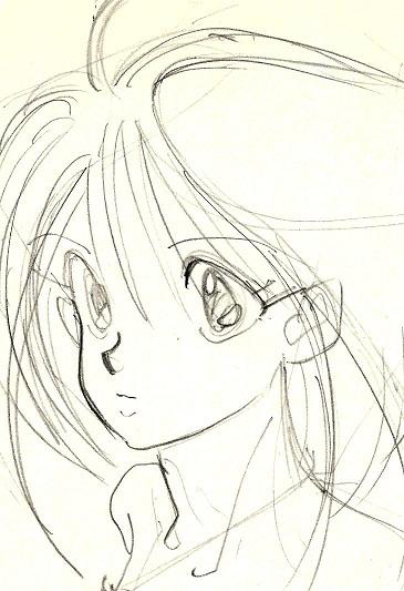 葉書女の子2