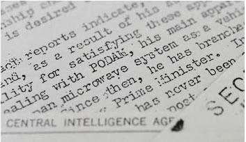 blog 正力氏を「PODAM」の暗号名で記した1955年12月9日付のCIA極秘文書のコピー。