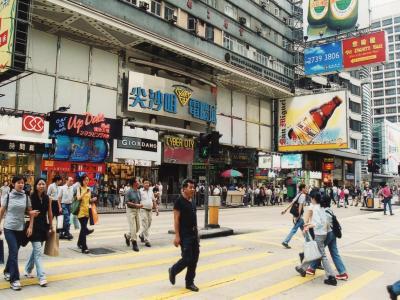 ダイナムが上場した香港の尖沙咀(サムサーチョイ)の風