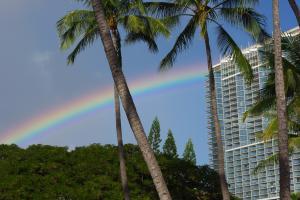 オアフ島の虹