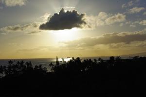 オアフ島の夕日