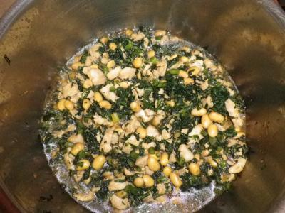 春菊の甘辛煮