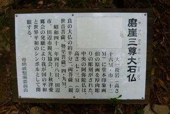 磨崖仏 案内図