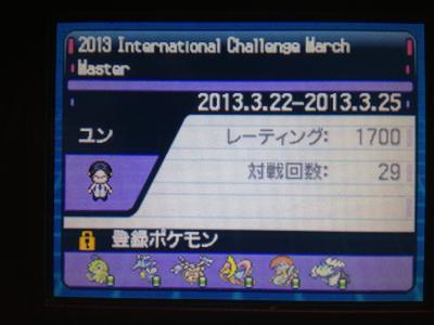2013 International Challenge March