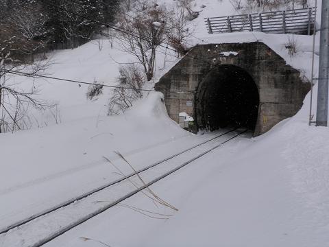 列車がやってくる、トンネル