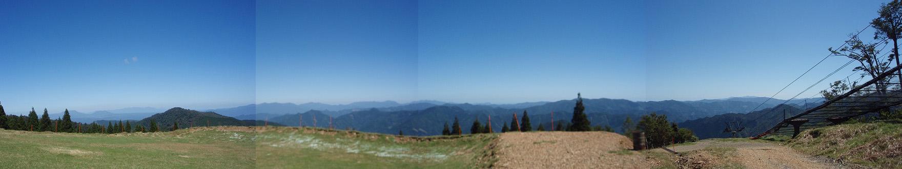 九州脊梁山脈トレイルランin五ヶ瀬スキー場パノラマ
