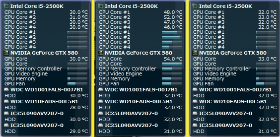 XTREME装着済みGTX580温度変化