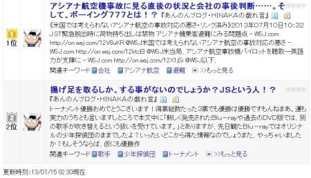 ブログ村注目LC