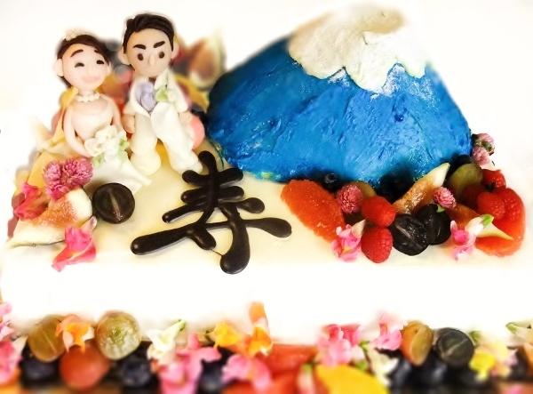 富士山ウエディングケーキ