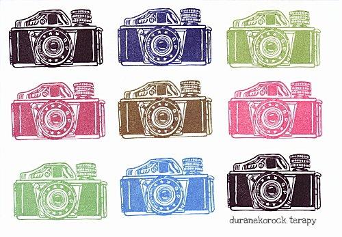 お豆なカメラ 三ツ星ミゼットはんこカラー