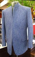 米沢ピュアシルクのマオカラーオーダージャケット