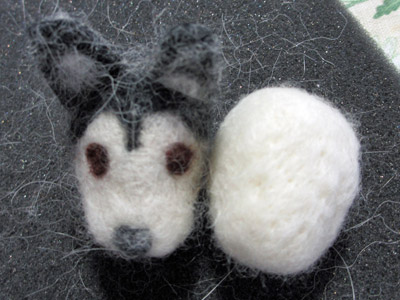 犬毛マスコット