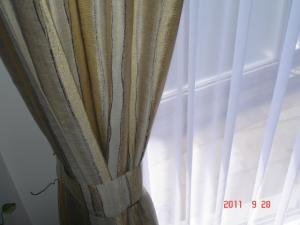 カーテンクリーニングしたFISBAのドレープカーテン