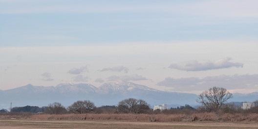 妻沼グライダー滑空場より赤城山を望む