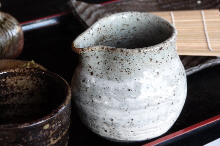 利庵:蕎麦湯を入れた器