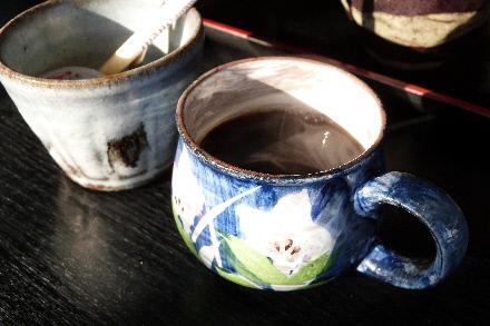 利庵:サービスのコーヒー