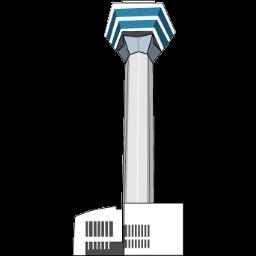 五稜郭タワーのイラスト マップラボ 地図アイコンを無料ダウンロード Maplab