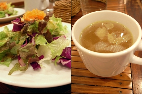 ニュートンサーカス サラダ、スープ
