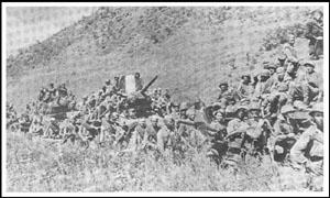 牡丹江へ進撃するソ連軍
