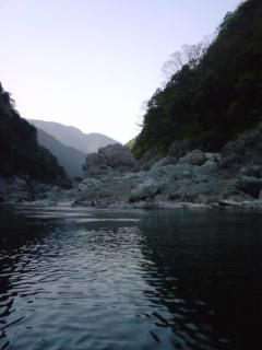 大歩危峡で舟下り