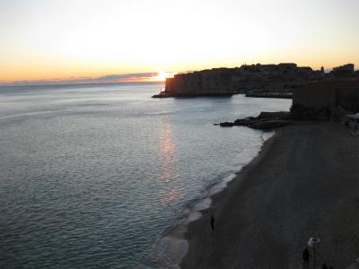 アドリア海に沈む夕陽