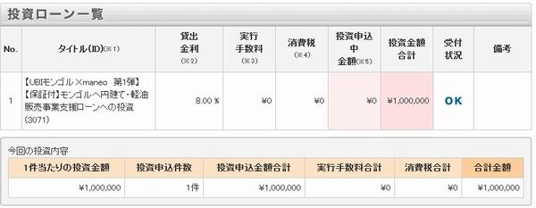 100万円当終了
