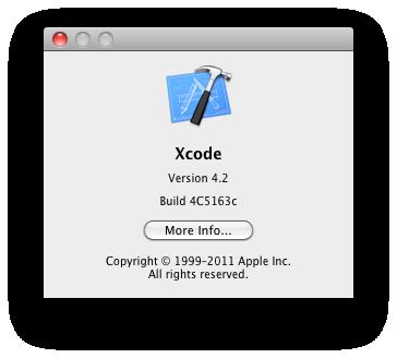 Xcode 4.2 beta 6