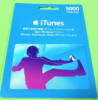 購入したiTunes Card