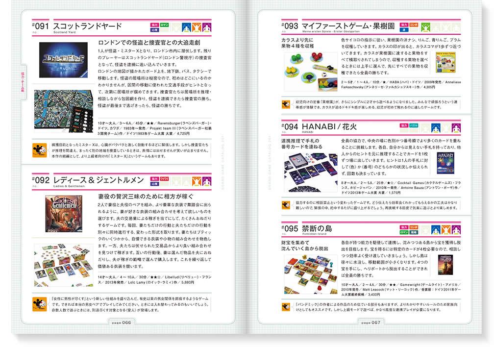 ボードゲームカタログ201:P66見開き